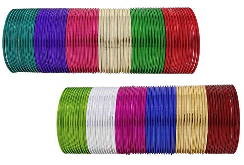 NMII by Cutting Pattern Bangle Set for Women (Multicolor) (P5-2.2)