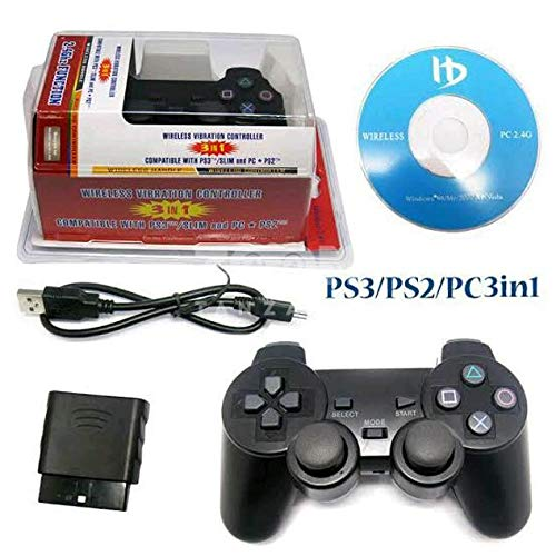 MrDeal PS2/PS3/PC 3 in 1 Wireless Controller 2.4G Gamepad For Pc