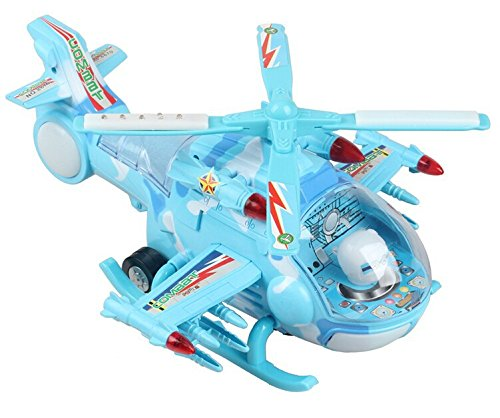 FunBlast® Musical Aircraft Toy,Battery Operated Helicopter with Beautiful Attractive Flashing Lights and Realistic Sounds , Bump and Go Action Toys, Available in 3 Different Sizes (Large)