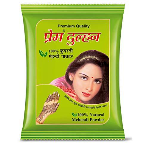GREEN Prem Dulhan Natural Mehandi Powder 15 G (Pack Of 20)