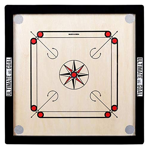 UG ULTIMATE GOAL Carom Board for Kids and Children(Medium 26 X 26) with Striker and Coins