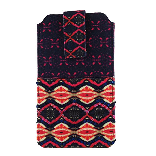 Pinaken Women and Girls Canvas Smartphone Cover (Shimmering Nights)