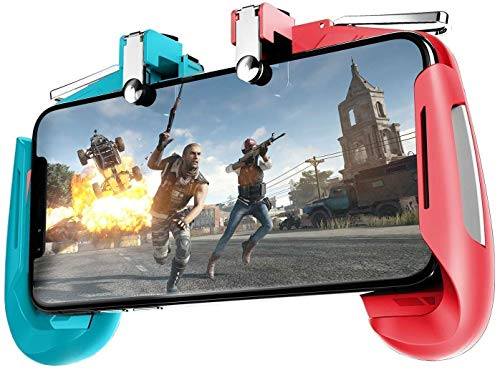 SPYKART 2 in 1 Mobile Remote Controller Gamepad Holder Handle Joystick Triggers for PUBG L1 R1 Shoot Aim Button for iOS and Android