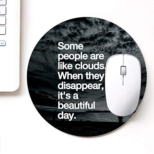 DASM United UVDesigner Printed Round Mouse Pad for Laptop n Computer | Its a Beautifull Day | Mousepad for Gamers | Gaming Mousepad