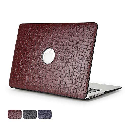 DURATEC Crocodile Pattern Hard Shell Case Cover Compatible MacBook Pro 13.3' Inch (Without TouchBar, Brown)