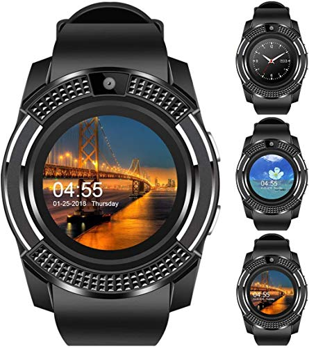 OnePlus 5 Compatible Bluetooth Smart Watch M9 2G,3G,4G Phone with Camera and Sim Card Support with Apps Like Facebook and Whatsapp Touch Screen QQ,WeChat, Twitter by HARINAHealth by HARINA