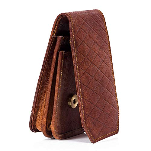 """Goatter Unisex Leather Material 5.25"""" and 5"""" Inch Mobile Cover Pouch with Card Holder"""