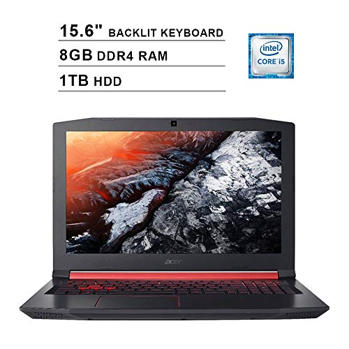 2019 Acer Nitro 5 AN515 15.6 Inch FHD Gaming Laptop (Intel Quad Core i5-8300H up to 4.0 GHz, 8GB DDR4 RAM, 1TB HDD, NVIDIA GeForce GTX 1050 Ti, Backlit Keyboard, Windows 10) (Shale Black)