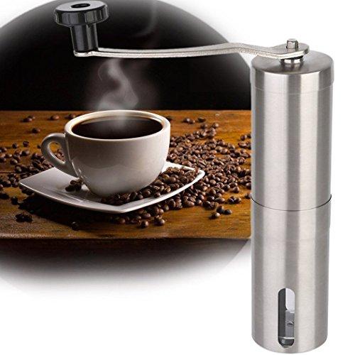 YFXOHAR Manual Coffee Grinder Adjustable Ceramic Burr Mill Portable Hand Stainless Steel Coffee Grinder