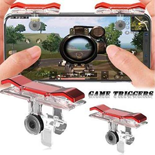 ITOKO® Slope Shape Pubg Triggers Cum Gamepad Joystick Compatible with All Smartphones - (1 Pairs Set)