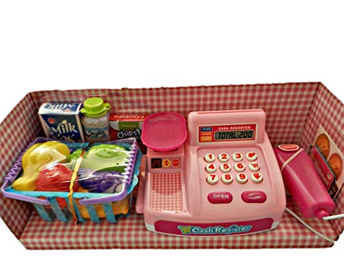 Ballin Supermarket Shopping Cash Register Play Set with Barcode Scanner (Pink) Combo Pack of 1