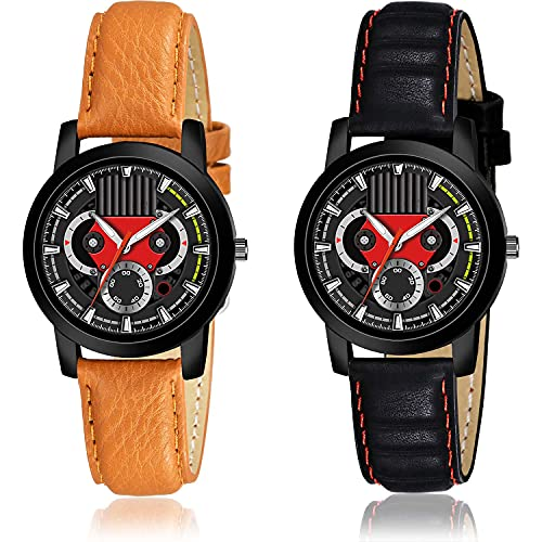 GROOT Style Analogue Black Color Dial Women Watch - (29-L-1)-(29-L-5) (Pack of 2)