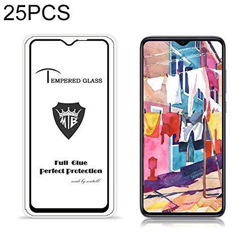 LIDGRHJTHTGRSS Mobile Phone Accessories Screen Protectors 25 PCS for Xiaomi Redmi Note 8 Pro Anti-Glare Full Screen Tempered Glass Film