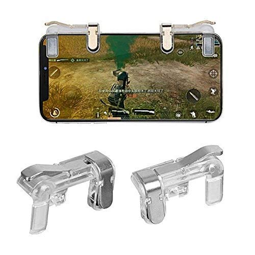 KECINOVA ENTERPRISE UBG Mobile Game Controller, Gamers Yard 1 Pair Sensitive Game Triggers for PUBG/Knives Out/Rules of Survival L1R1 Game Joysticks Gamepad for Android iOS Phones Transparent