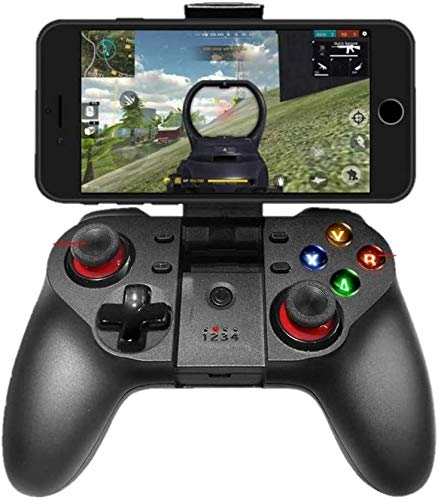 TASLAR Mobile Game Controller, Wireless Bluetooth Gamepad Joystick Multimedia Joystick Compatible with iOS Android iPhone iPad Windows PC, Perfect for The Most Games-NO Supporting iOS 13.4 or Above