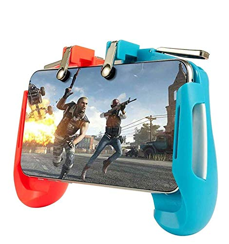CQLEK® PUBG Trigger Controller, Mobile Gamepad Joystick Holder - 4 Fingers Trigger Button for Android iPhone iOS High Sensitive Fast Fire Shooting Triggers in Survival