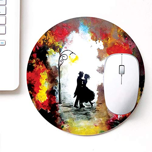 DASM United UVDesigner Printed Round Mouse Pad for Laptop n Computer | Couple Dancing | Mousepad for Gamers | Gaming Mousepad