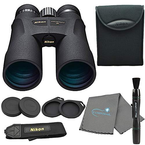 Nikon PROSTAFF 5 12X50mm Binoculars (7573) Bundle with Nikon Carry Case, Lens Pen, Micro Fiber Cleaning Cloth and Lumintrail Keychain Light