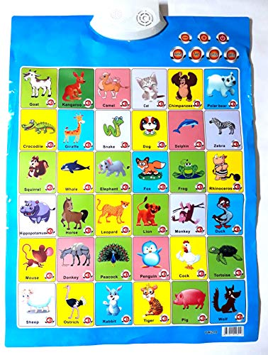 Plutofit® Battery Operated Educational Musical Learning PlayMat for Kids (Animal Chart)