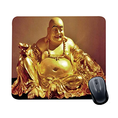 Family Shoping New Year Gifts Item Office Printed Laughing Buddha Mousepad for Computer, PC, Laptop,
