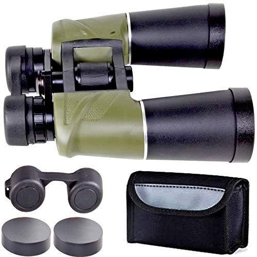 Rockfieln Powerful Binocular for Long Distance Foldable Monocular Telescope zoomable 7x50 with Lens 357FT@0YDS Vision high Power Eye Relief Scope Sports Survival Kit with Pouch