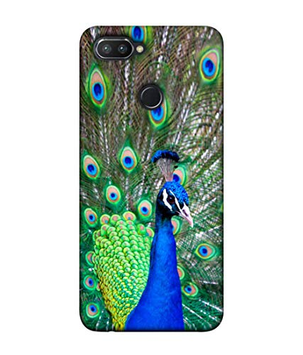 S SMARTY Cool Peacock Printed Hard Case Mobile Back Cover for Realme 2 Pro