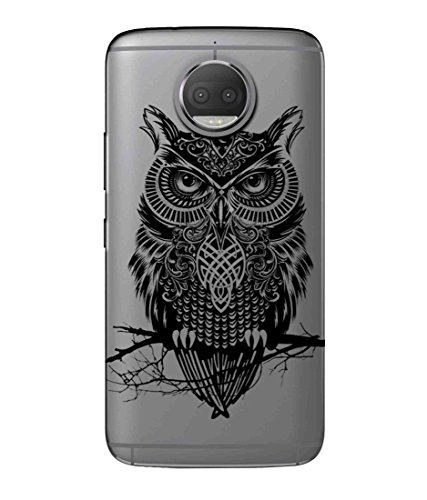 Snooky Printed Owl Mobile Back Cover of Moto G5 Plus - Multicolour