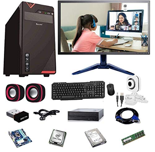 "Rolltop® Assembled Desktop Computer,Intel Core 2 Duo 3.0 GHZ Processor,G 31 Motherboard, 15"" LED Monitor,2 GB RAM,Windows 7 & Office Trial Version with Web Camera Mic Speaker, DVD R/W"