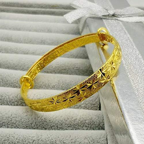 ELECTROPRIME DB9E Women's Fashion Goldplated Bangle Bracelets Gifts Expandablebangle Jewelry