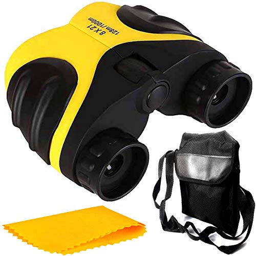 PE Binocular 8x21 with Powerful Lens Foldable Monocular Telescope Long Distance zoomable Vision high Power Wide Angle Sports Hunting Camping with Pouch
