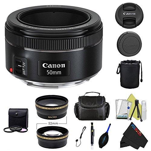 Pixibytes Canon EF 50mm f/1.8 STM Lens + Pixi-Advanced Accessory Bundle