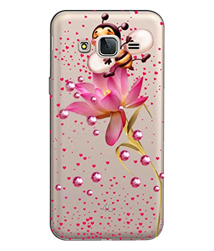 Snooky Printed Honeybees Mobile Back Cover of Samsung Galaxy J3 Pro - Multicolour