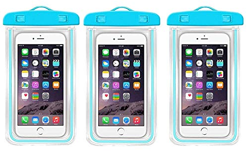 Cyrox Rain & Dust Protection Waterproof Touch Sensitive Mobile Phone Case - Waterproof Sealed Transparent Bag with Underwater Pouch Phone Case (Color May Vary, 3 Piece) (3)