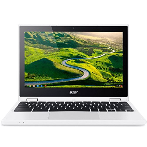 """Acer - R 11 CB5-132T-C8ZW 2-in-1 11.6"""" Touch-Screen Chromebook - Intel Celeron - 4GB Memory - 16GB eMMC Flash Memory - White"""