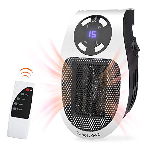Jukkre Smart Space Room Handy Heater Portable 500W Handy Mini Heater Fan for Office Home with Remote Control