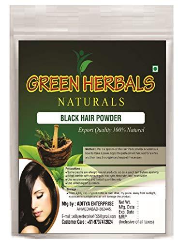 Green Herbals Black Indigo Powder for Hair - Natural Black Dye, Anti-Dandruff & Hair Growth - 100gm