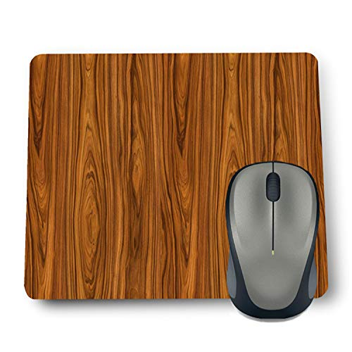 Shop-buz Printed Non Slip Rubber Designer Mouse Pads for Quotes/Pattern (220 mm x 180 mm x 3 mm) Multicolor (Wooden Wall)