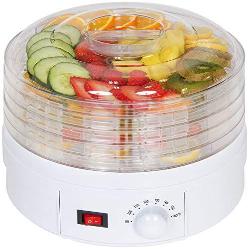 Saukhy Home Plastic Electric Countertop Food Dehydrator, Preserver Jerky Maker (White)