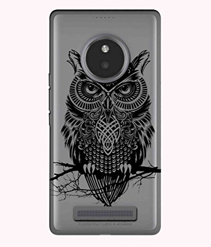 Snooky Printed Owl Mobile Back Cover of Micromax Yu Yunique - Multicolour