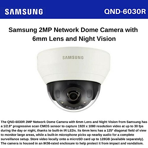 SAMSUNG/HANWHA QND-6030R 2MP Network IR Dome Camera
