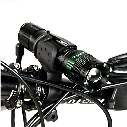 Generic 2 : Bike Bicycle Front Light 300 LM CREE Q5 Lamp Flashlight Zoomable Zoom Torch 240 Lumens + Clip