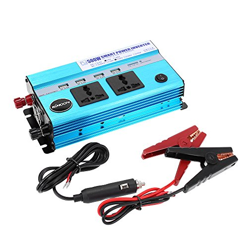 dodocool 500W Car Power Inverter DC 24V to AC 220V 50Hz with 4 USB Ports / 2 AC Outlets