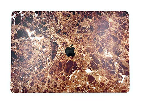 """24x7 eMall Rubberized Hard Shell Cover Compatible Newest MacBook Pro 15"""" (2016-2019 Release) with Touch Bar (15 Inch Pro, Brown Marble)"""