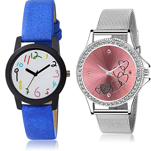 NEUTRON Love Valentine Analog White and Red Color Dial Women Watch - GO118-G286 (Pack of 2)