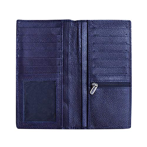 ABYS Blue Genuine Leather Women Wallet||Mobile Case||Passport Cover||Clutch||Hand Bag||Credit Card Case
