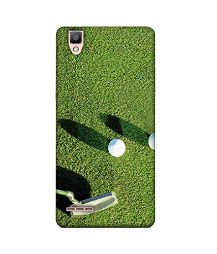 S SMARTY Golf Balls Printed Hard Case Mobile Back Cover for Oppo F1