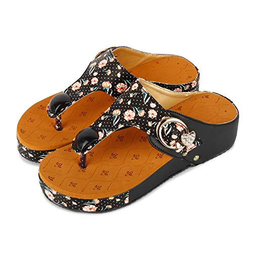 Fashimo Women Flats And Slippers A14-Black-37