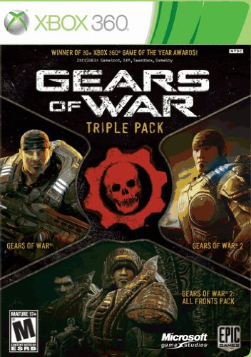 Microsoft Gears of War Triple Pack (I II & Expansion) (Xbox 360)