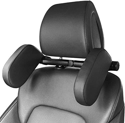 Mixen Car Seat Headrest Pillow,Hard PVC Sleeping Neck Pillow,Auto Adjustable Angle Shockproof Car Sleeping Cushion and Neck Pillow,for Kids Adults