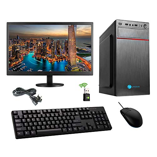 "Gandiva Desktop Computer (Core I3 1st Gen CPU/H55 Motherboard/8GB RAM/18.5"" Monitor/WiFi) Pre Installed Windows 10 & MS Office (Trail Version) and Antivirus (Free Version) Pre-Installed (480GB SSD)"